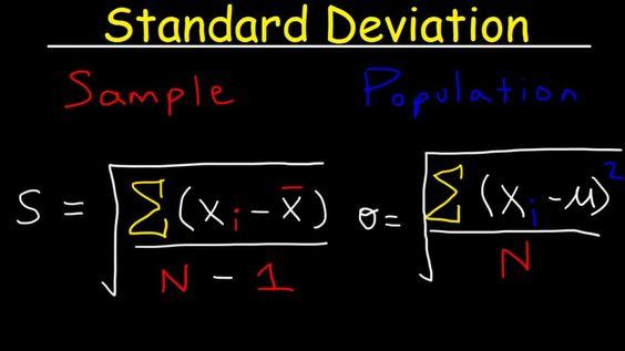 قانون الإنحراف المعياري وكيفية حسابه موسوعة Standard Deviation Education Standard