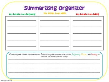 Resume How To Write A Summary Graphic Organizer