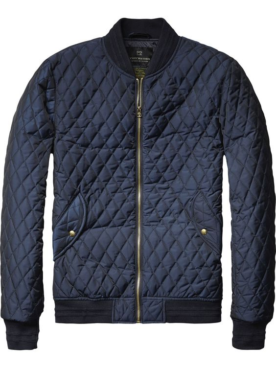 Quilted Nylon Bomber Jacket | Jackets | Men's Clothing at Scotch ...