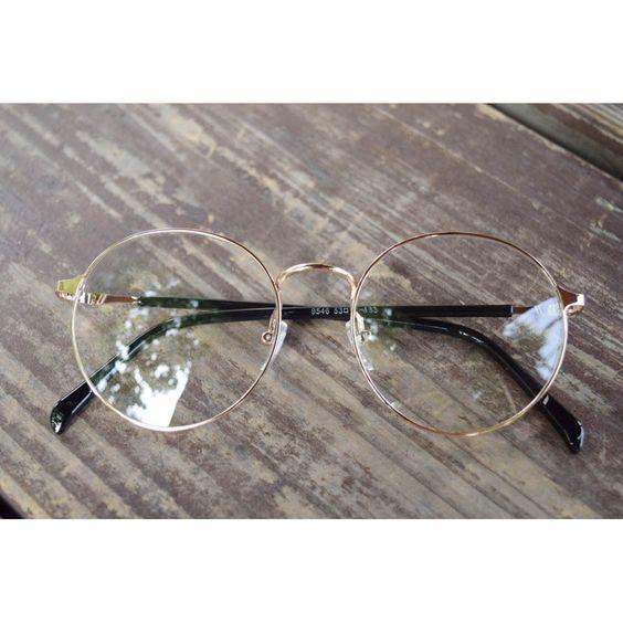 1920s Nerd Brille filigran rund Glasses Klarglas Hornbrille treber 95E46 Gold