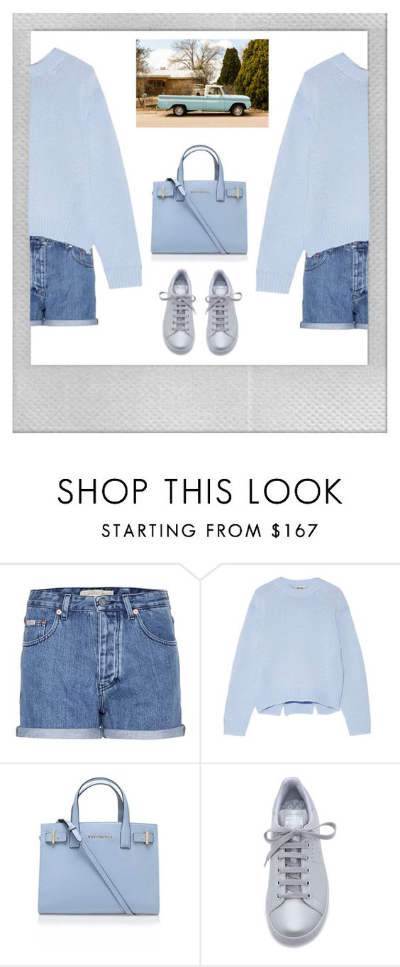 """""""pretty in blue"""" by genesisdallas ❤ liked on Polyvore featuring Polaroid, Calvin Klein Jeans, Acne Studios, Kurt Geiger, adidas, women's clothing, women, female, woman and misses"""