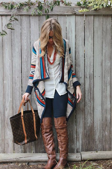so well put together...comfort for fall & really cute!