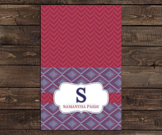 10 Personalized Stationery folded cards  by LittleBeesGraphics