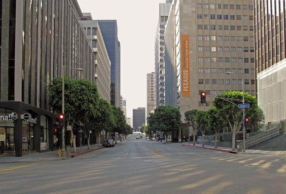 Wilshire Boulevard at Hope Street (Downtown)
