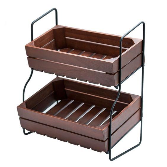 Countertop Vegetable Storage : ... storage stand 14 tier stand tier storage storage wood storage ideas