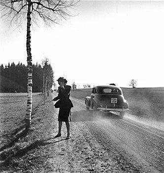 Tráfico vial, cantón de Zúrich, hacia 1941.