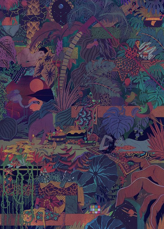 Micah Lidberg illustration: Boat Studio/Micah Lidberg/She Was Only: The Glass Animals – Zaba