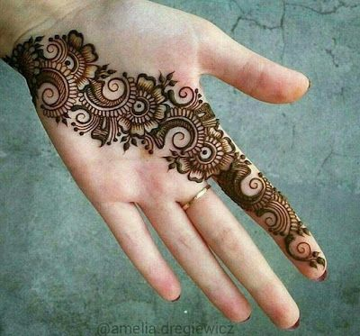 mehandi designs for hands simple