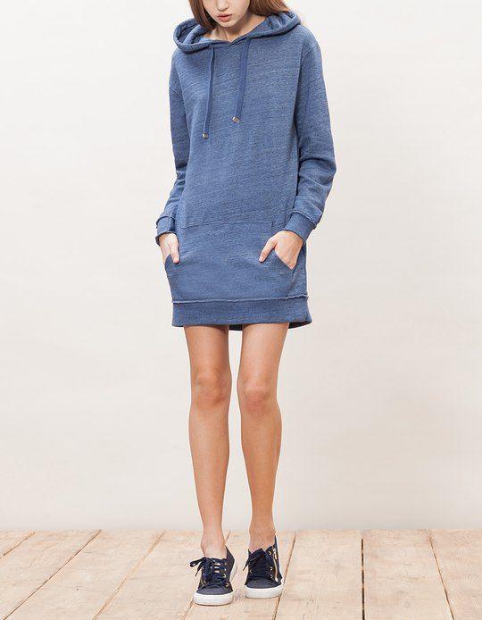 chez stradivarius tu trouveras 1 robe sweat capuche pour femme pour seulement 1995
