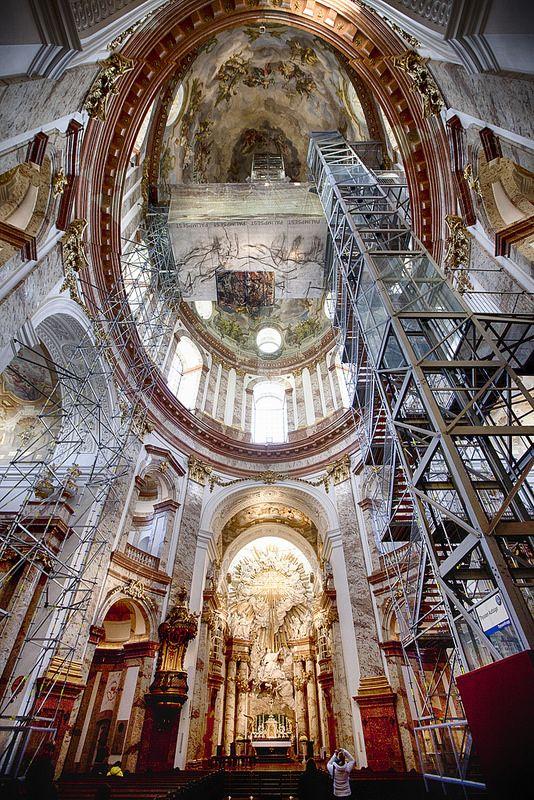 Inside Karlskirche - Vienna