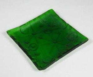 Botella reciclada Textura de cristal del azulejo
