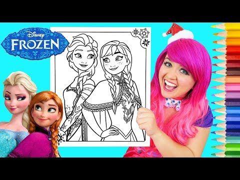 Coloring Frozen Elsa Anna Coloring Book Page Prismacolor Colored Pencils Ki Disney Princess Coloring Pages Princess Coloring Pages Christmas Coloring Books