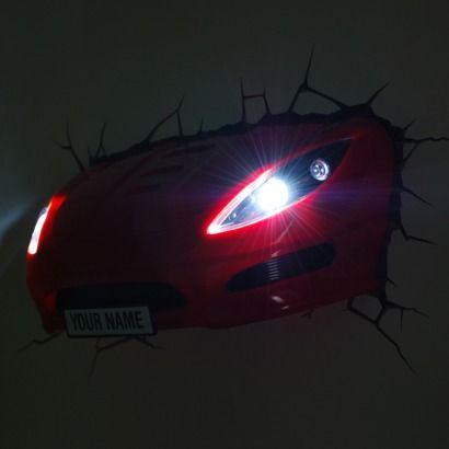 3D Wall Art Sports Car Nightlight