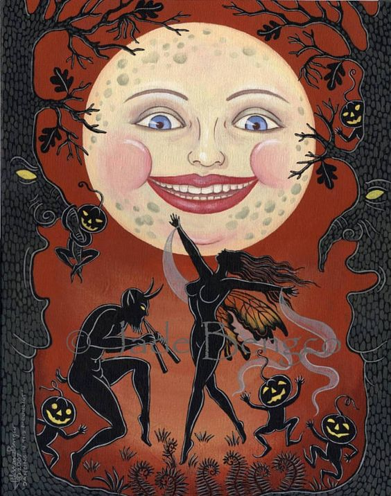 DANCING In The MOONLIGHT limited edition Halloween Fantasy art print