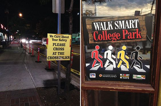 "College Park Learns to ""Walk Smart"": Traffic deaths are the catalyst for University of Maryland taking steps to make a college party zone safer #MU #Maryland #college #safety 