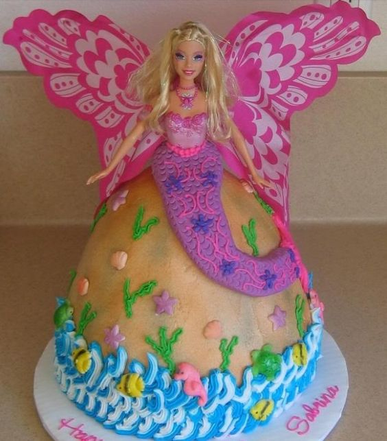 Butterfly Barbie Cake Images : Pinterest   The world s catalog of ideas