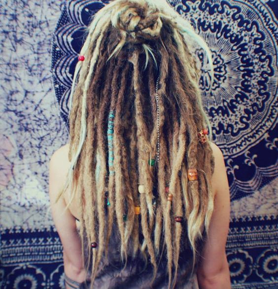 20 Crocheted 100 % Real Human Hair Dreadlocks for by RAVINGLOCKS