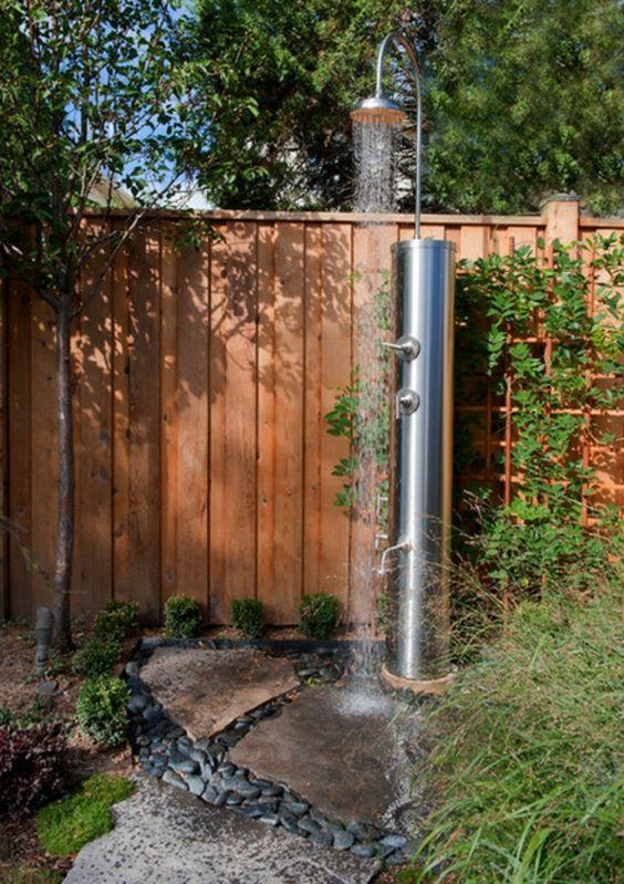 14 Designs für anregende Gartenduschen Garten Pinterest - ideen gartendusche design erfrischung