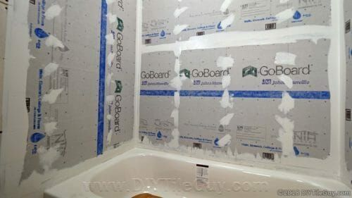 How To Install Goboard Tile Backer Board With Images Shower
