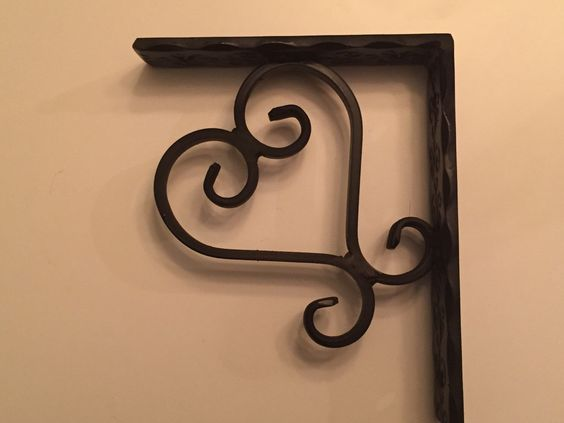 Heart shaped Wrought Iron Corbel by Scrollworksiron on Etsy https://www.etsy.com/listing/211445456/heart-shaped-wrought-iron-corbel