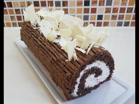 كيك رولي بالشكلاط كما المحترفين بطريقة سهلة وجنواز بدون خميرة راقية جدا Buche Au Chocolat Youtube Desserts Krispie Treats Rice Krispie Treat