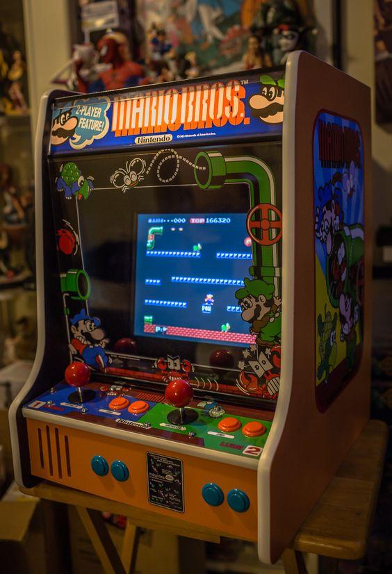 My complete mini Mario Bros. mini bartop arcade machine!   Arcade ...