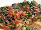 fish w/ tomatoes, olives & capers