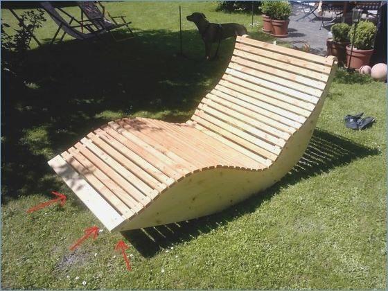 Garden Lounger Self Build Instructions Build Garden Instructions Lounger Sun Lounger Wood Diy Garden Loungers