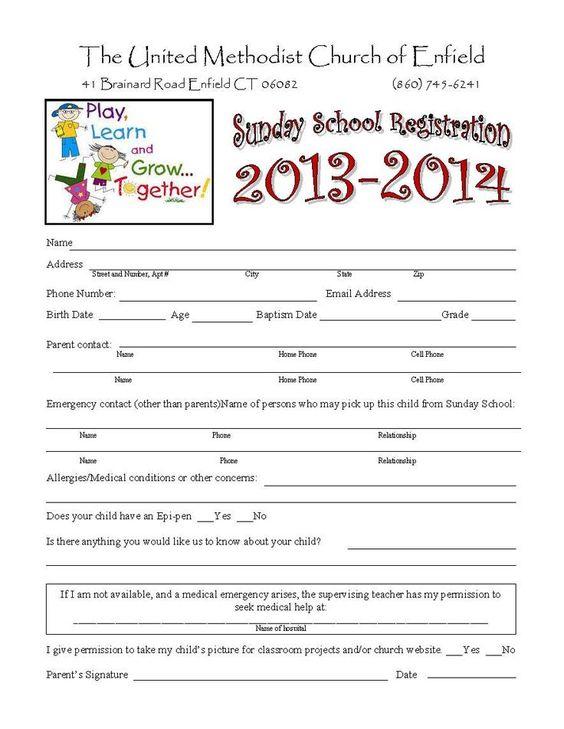 enrollment application template