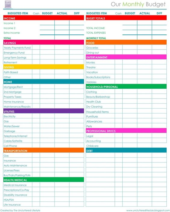 Kelsy Sellers (ksellers13) on Pinterest - How To Make A Household Budget Spreadsheet