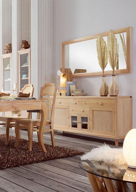 Aparadores para salones coloniales en madera de mendi, mas muebles ...