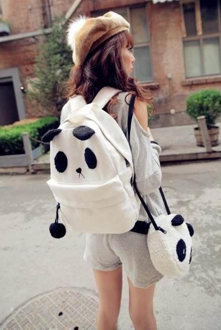 Mochila+Bolso Panda / Backpack+Panda Bag WH238