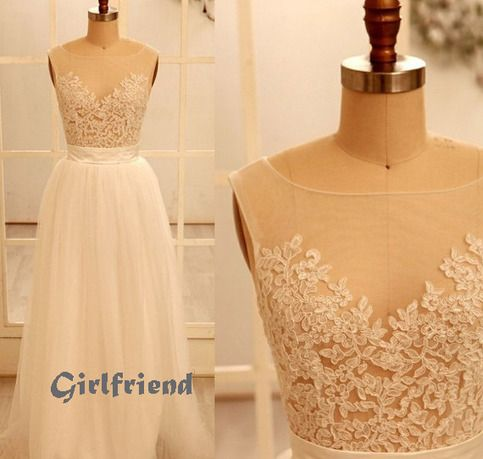 Each of our dress are made to order by hand  Dress code: G0117  Fabric: Lace, tulle Embellishment: Lace Silhouette: A-line Hemline: Floor-length Neckline: Sweetheart Sleeve Length: Sleeveless  Back Details: Zipper-up  Color: see picture  Size: 2,4,6,8,10,12, Custom-made  Each of dr...