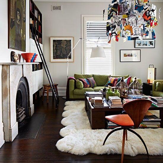 Contemporary Living Room With Quirky Pendant | Home | Pinterest | Sala De  Estar, Color Y Decoración