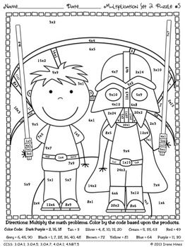 math worksheet : multiplication may the facts be with you 2  math puzzle  : Star Wars Math Worksheets