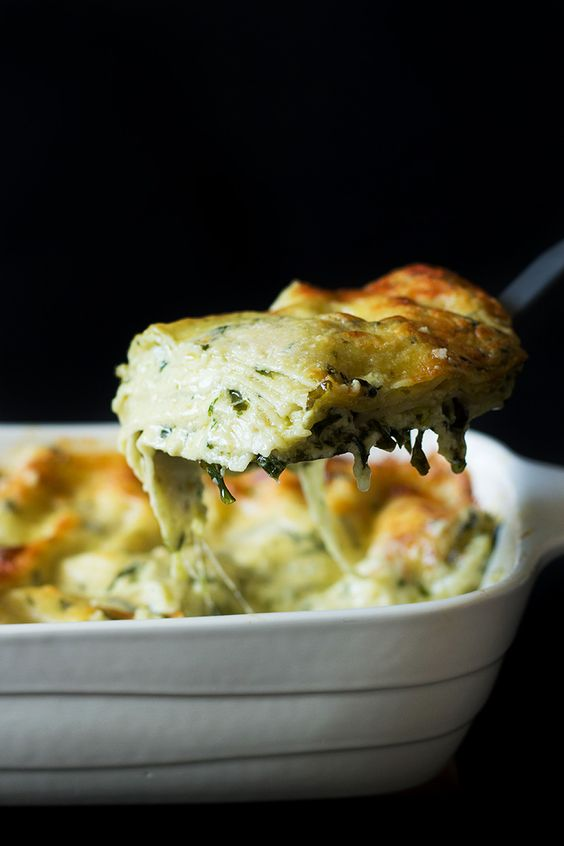"""Creamy Pesto Lasagna - This will blow your mind. You will be screaming """"Mamma mia"""" after tasting it!"""