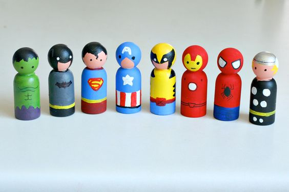 Craft, Interrupted: Tidbits With Tiffany: Superhero Peggie Dolls