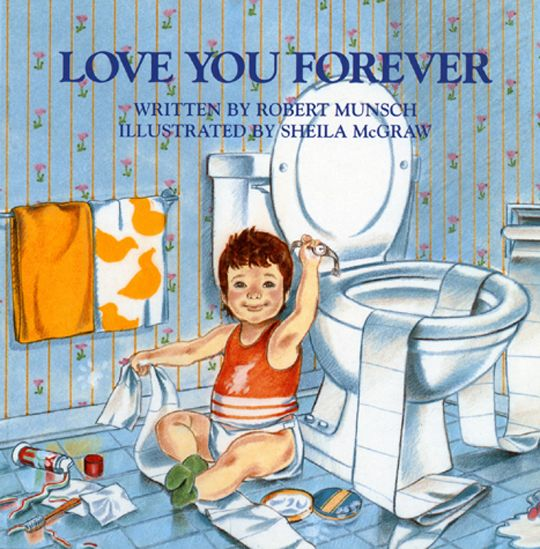 """""""I'll love you forever  I'll like you for always  As long as I'm living  My baby you'll be."""" Given to my kids when they were babies and read over & over & over~"""