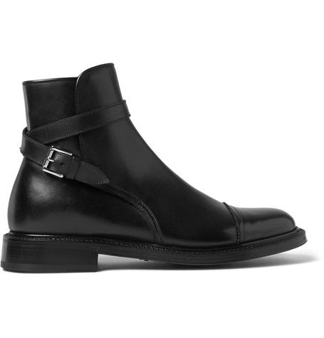 Brioni Buckle-Detailed Leather Boots | MR PORTER | Men&39s Style