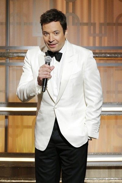 Host Jimmy Fallon is seen onstage during the 74th Annual Golden Globe Awards.