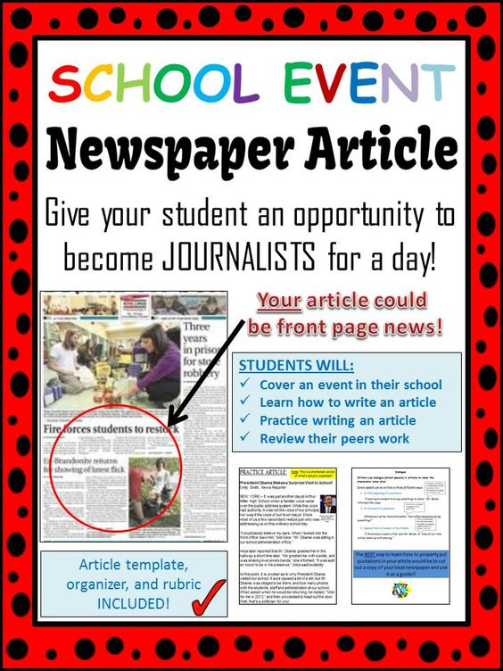 writing a school magazine report
