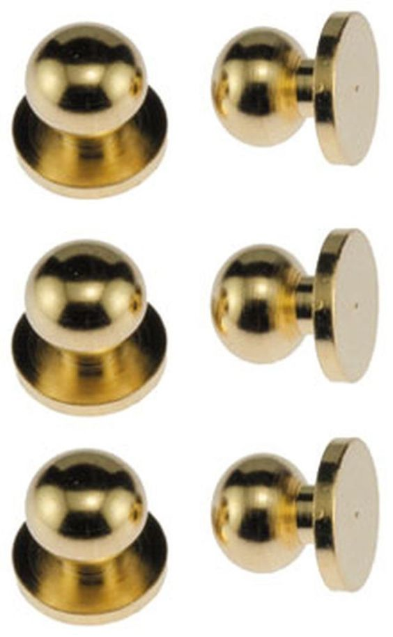 Dollhouse Miniature Set of 6 Round Brass Door Knobs by Classics #Classics