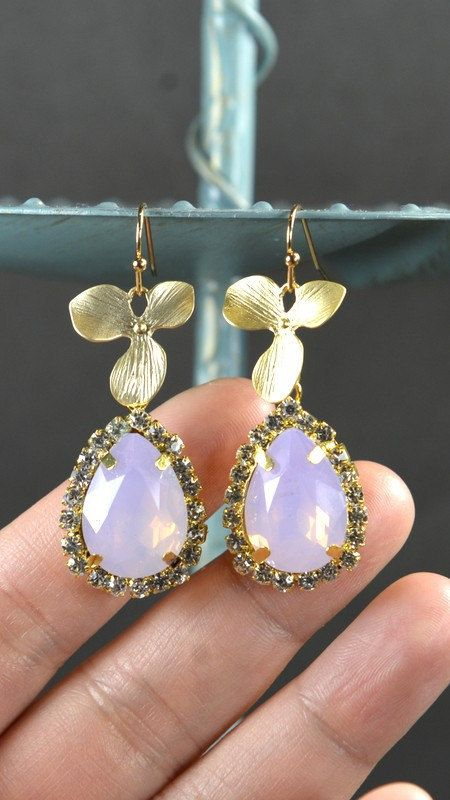 Purple Bridesmaid jewelry purple lavender pink by thefabbridal3, $25.99