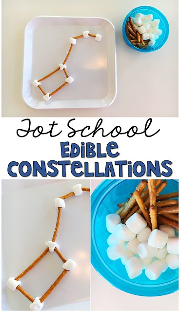 These edible constellations are easy peasy and perfect for tot school, preschool, or the kindergarten classroom.: