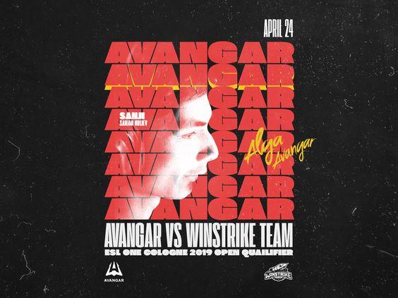 Avangar Vs Winstrike Match Poster Flyer Design Design Studio Logo Business Card Branding