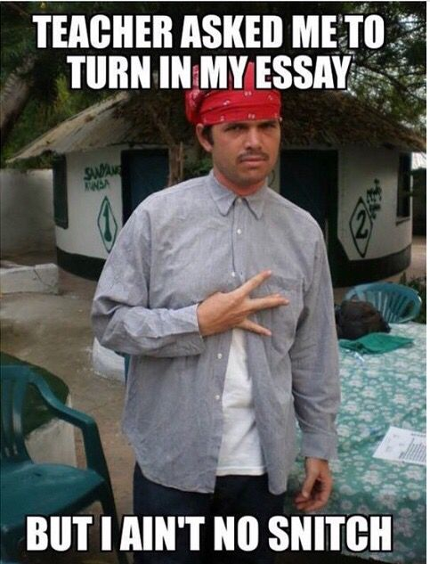 Breaking up for an essay?