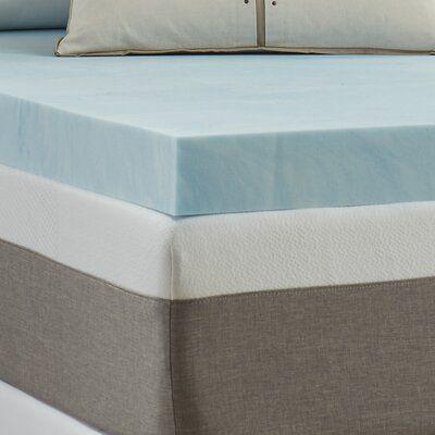 Luxury Solutions 4 Gel Memory Foam Mattress Topper Bed Size