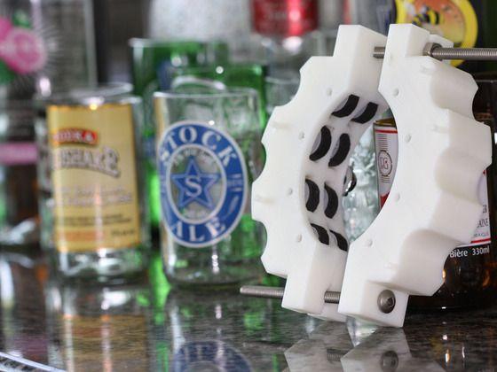 The Kinkajou: A bottle cutter with a new twist by Patrick Lehoux, via Kickstarter.