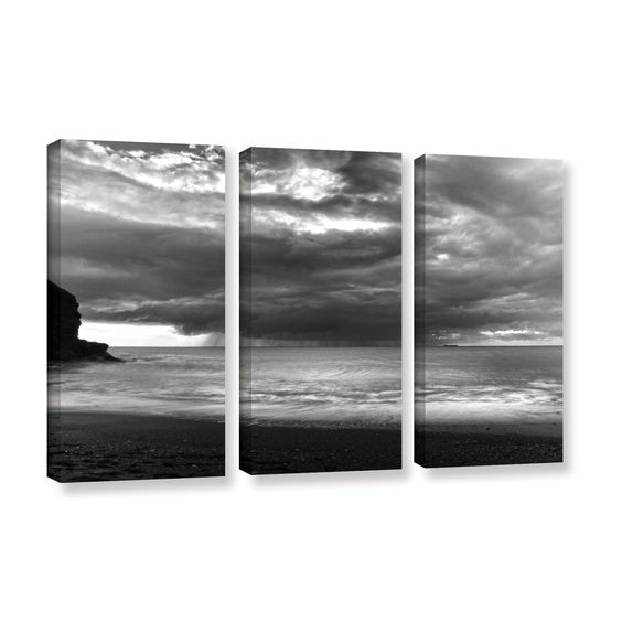 ArtWall Chris Tuff's 'Boat On The Horizon' 3 Piece Gallery Wrapped Canvas Set