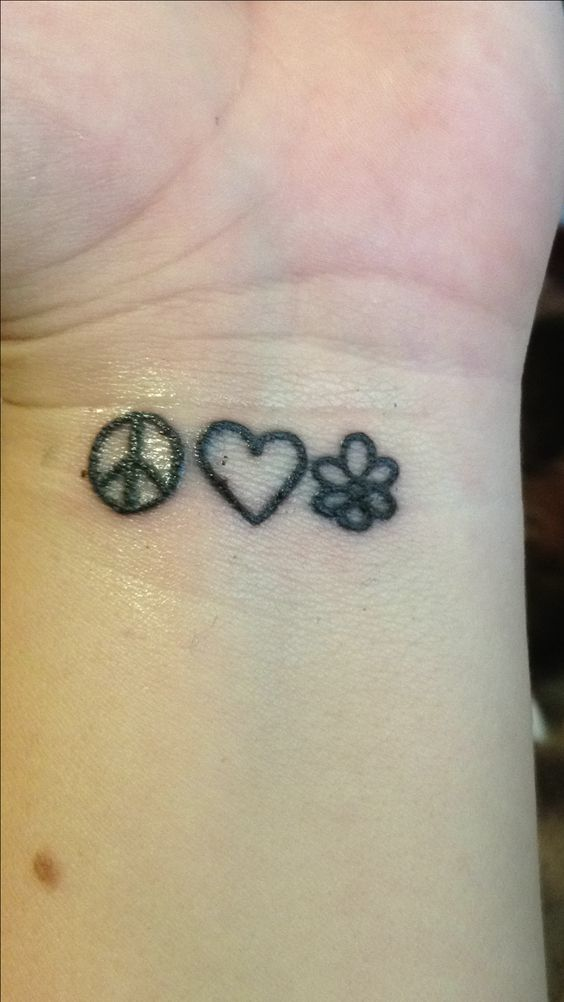 Pinterest the world s catalog of ideas for Peace love happiness tattoo